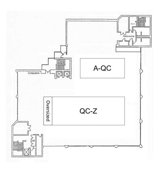 Floor Plan for the 4th Floor of Marston Science Library