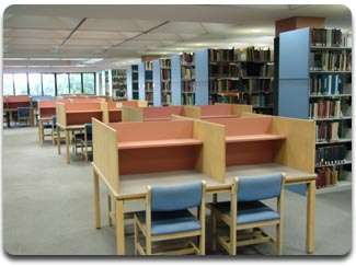 Image of study carrels on 4th floor